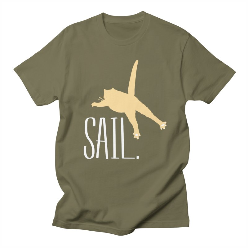 Sail Cat Shirt - Dark Shirts Women's Unisex T-Shirt by Jon Lynch's Artist Shop