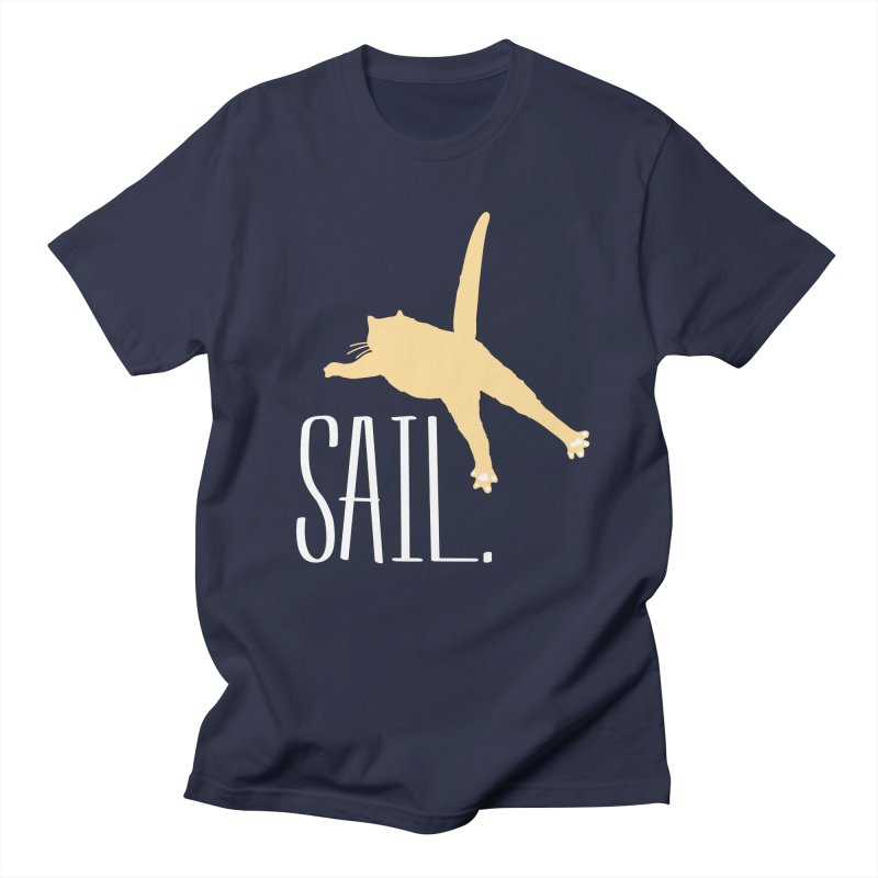 Sail Cat Shirt - Dark Shirts Men's T-Shirt by Jon Lynch's Artist Shop