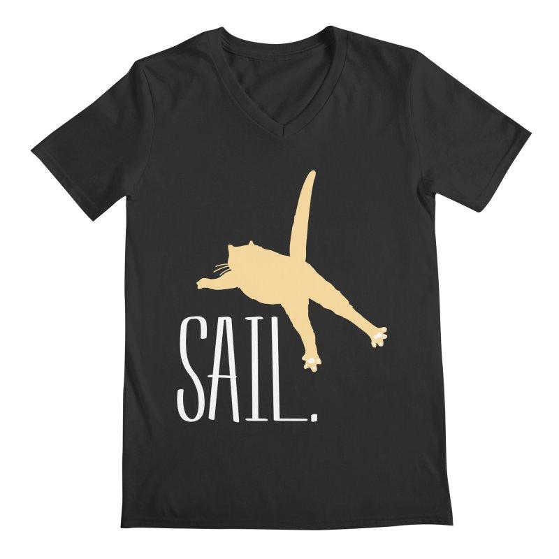 Sail Cat Shirt - Dark Shirts Men's Regular V-Neck by Jon Lynch's Artist Shop