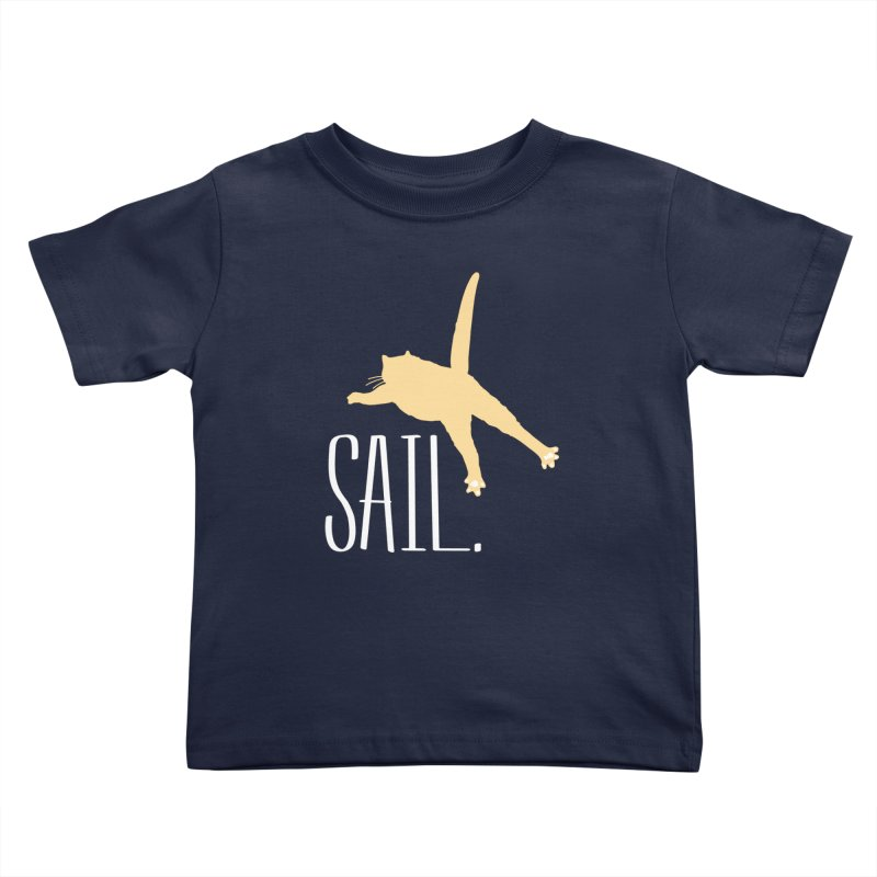 Sail Cat Shirt - Dark Shirts Kids Toddler T-Shirt by Jon Lynch's Artist Shop