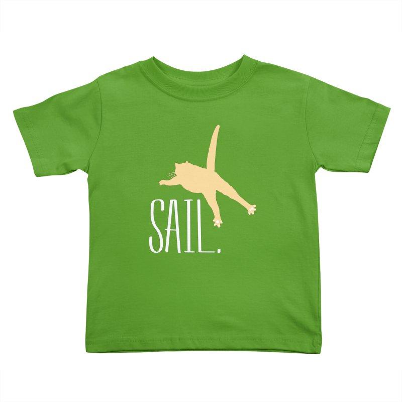 Sail Cat Shirt - Dark Shirts Kids Toddler T-Shirt by Jon Lynch's Artist Shop