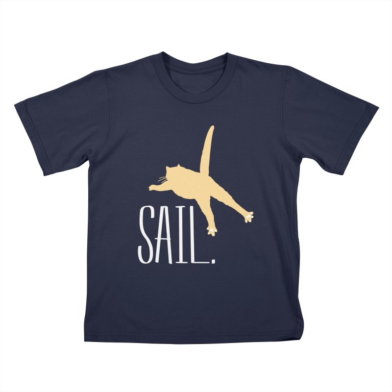 Sail Cat Shirt - Dark Shirts Kids T-Shirt by Jon Lynch's Artist Shop