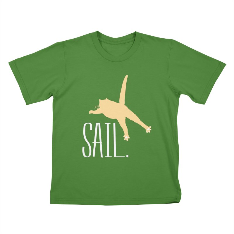 Sail Cat Shirt - Dark Shirts Kids T-Shirt by Jon Lynch's Artist Shop