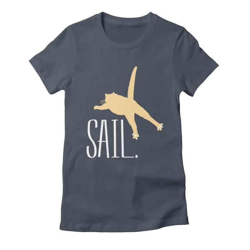 Sail Cat Shirt - Dark Shirts Women's T-Shirt by Jon Lynch's Artist Shop