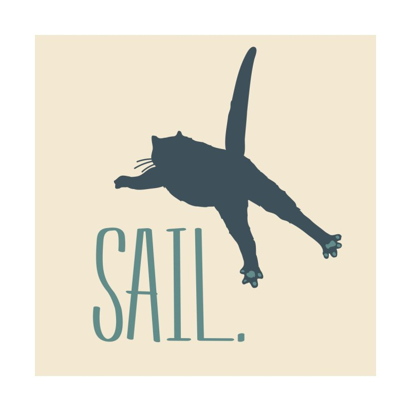 Sail Cat Wall Art - Light by Jon Lynch's Artist Shop