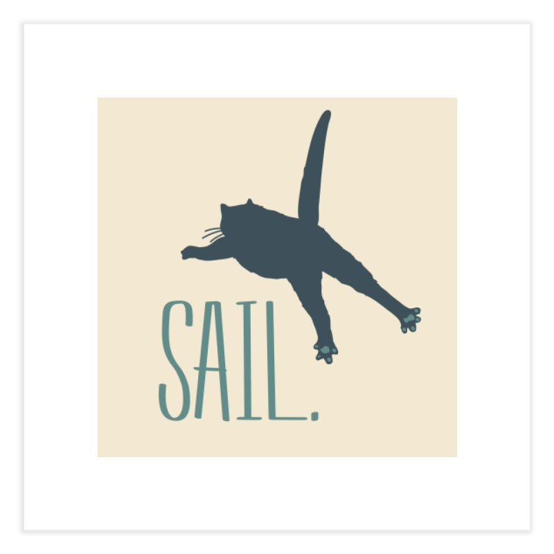 Sail Cat Wall Art - Light Home Fine Art Print by Jon Lynch's Artist Shop