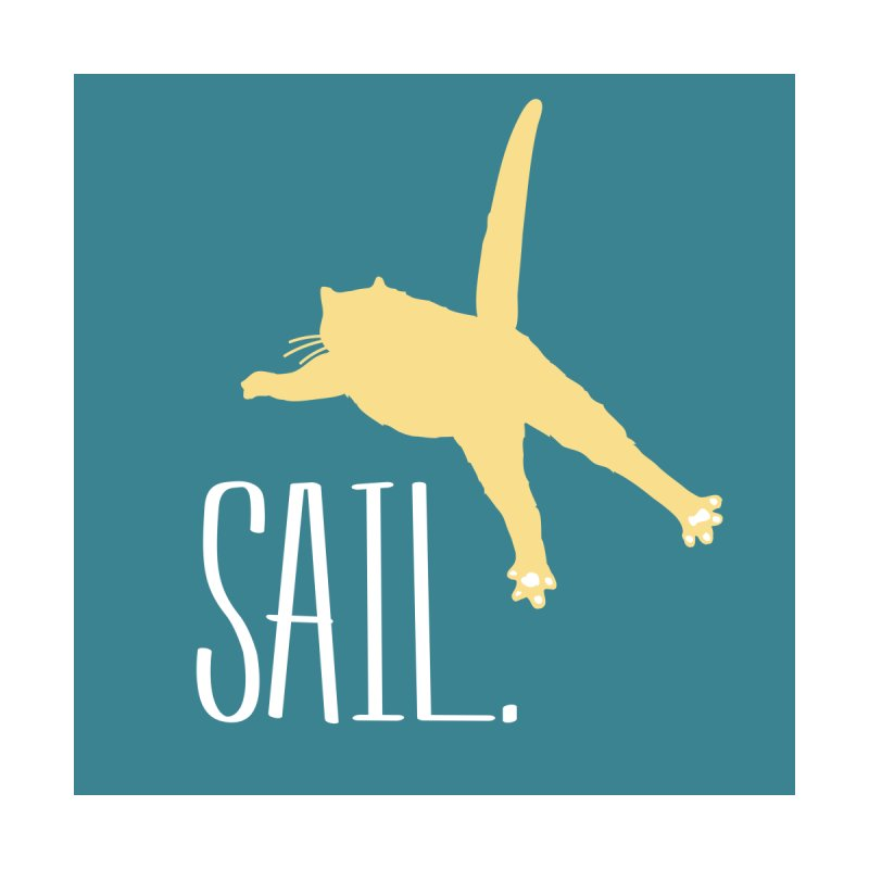 Sail Cat Wall Art - Dark by Jon Lynch's Artist Shop