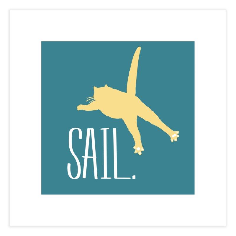 Sail Cat Wall Art - Dark Home Fine Art Print by Jon Lynch's Artist Shop