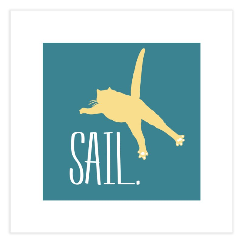 Sail Cat Wall Art - Dark Home Fine Art Print by Jon Lynch's Artist Shop