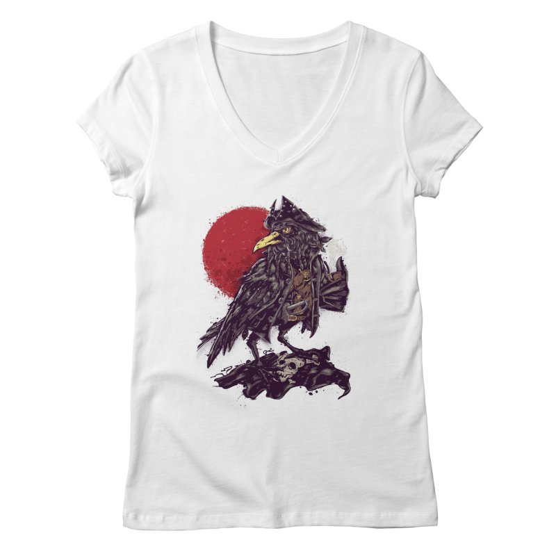 Black Bi(ea)rd Women's V-Neck by bykai's Artist Shop