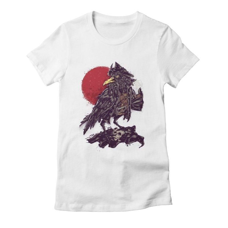 Black Bi(ea)rd Women's Fitted T-Shirt by bykai's Artist Shop