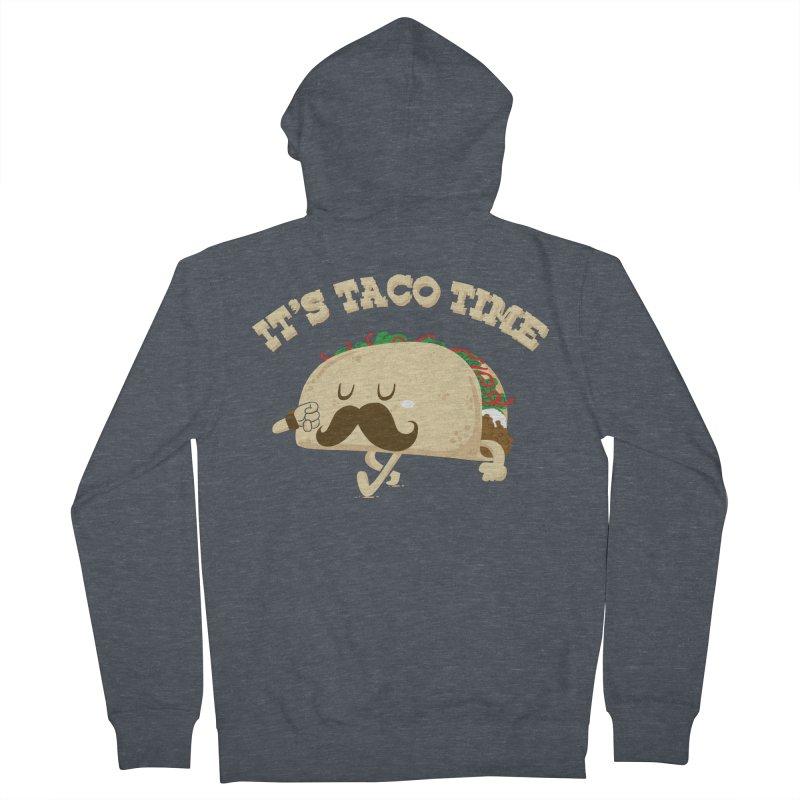 Taco Time Men's Zip-Up Hoody by bykai's Artist Shop