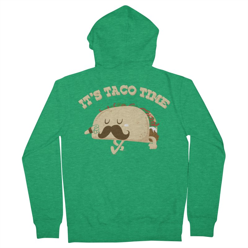Taco Time Men's Zip-Up Hoody by bykai's Artist Shop