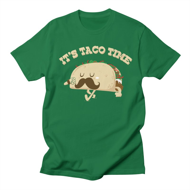 Taco Time Men's T-shirt by bykai's Artist Shop