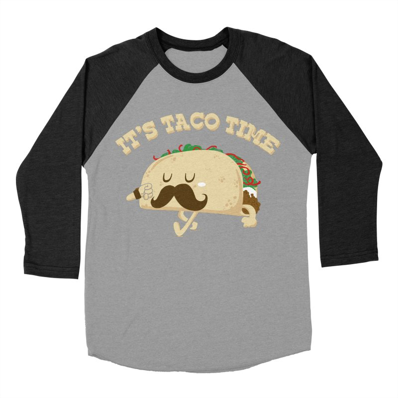 Taco Time Women's Baseball Triblend T-Shirt by bykai's Artist Shop