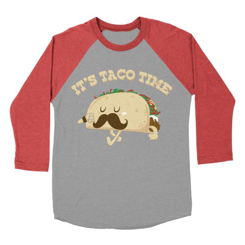 Taco Time Men's Baseball Triblend T-Shirt by bykai's Artist Shop