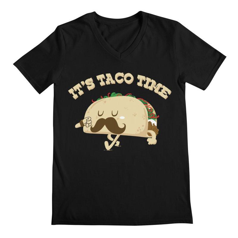 Taco Time Men's V-Neck by bykai's Artist Shop