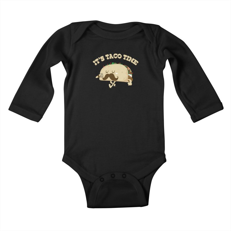 Taco Time Kids Baby Longsleeve Bodysuit by bykai's Artist Shop