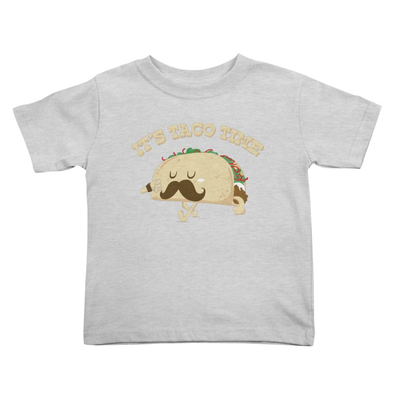 Taco Time Kids Toddler T-Shirt by bykai's Artist Shop