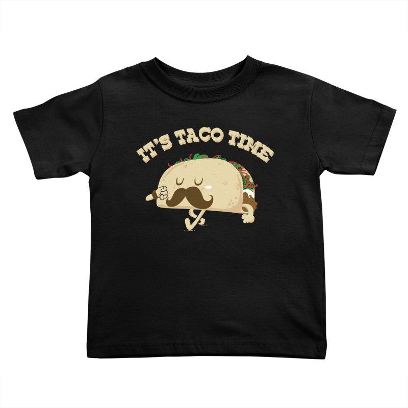 Taco Time Kids Toddler T-Shirt by bykai's Artist Shop