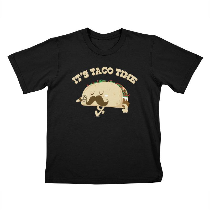 Taco Time Kids T-shirt by bykai's Artist Shop