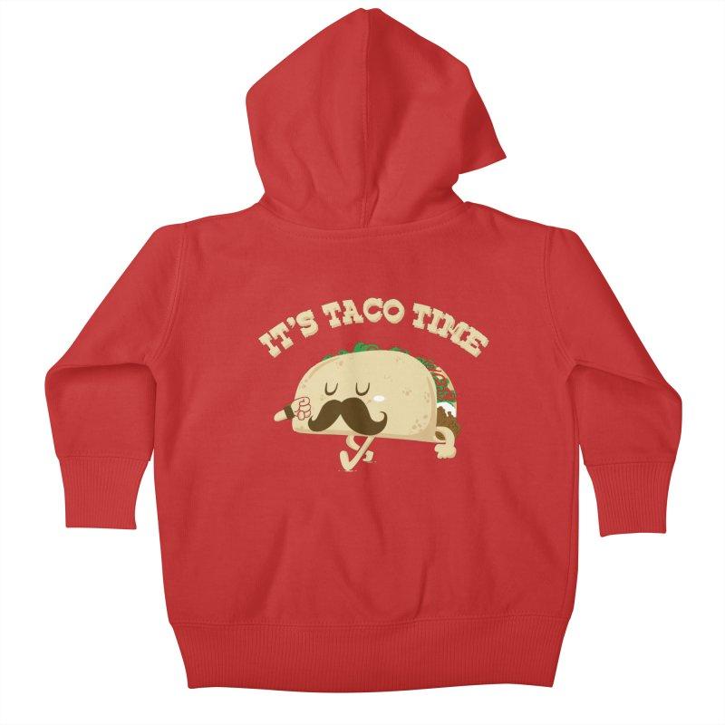 Taco Time Kids Baby Zip-Up Hoody by bykai's Artist Shop