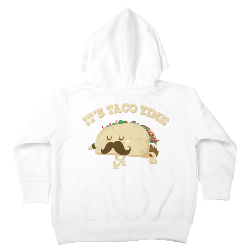 Taco Time Kids Toddler Zip-Up Hoody by bykai's Artist Shop