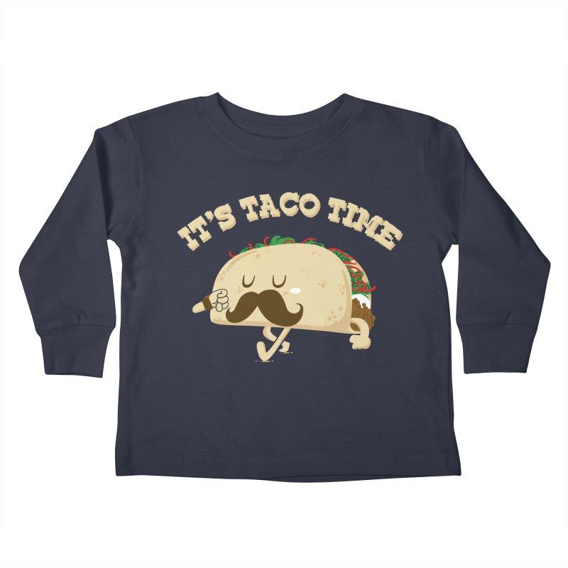 Taco Time Kids Toddler Longsleeve T-Shirt by bykai's Artist Shop