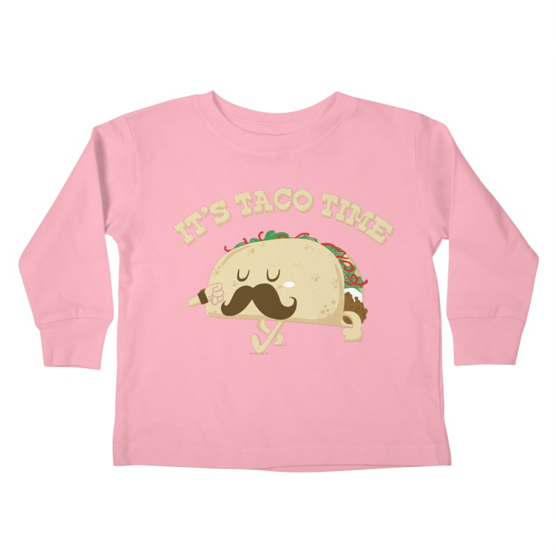 Taco Time Kids Toddler Longsleeve T-Shirt by bykai's Artist Shop
