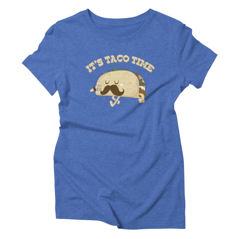 Taco Time Women's Triblend T-Shirt by bykai's Artist Shop