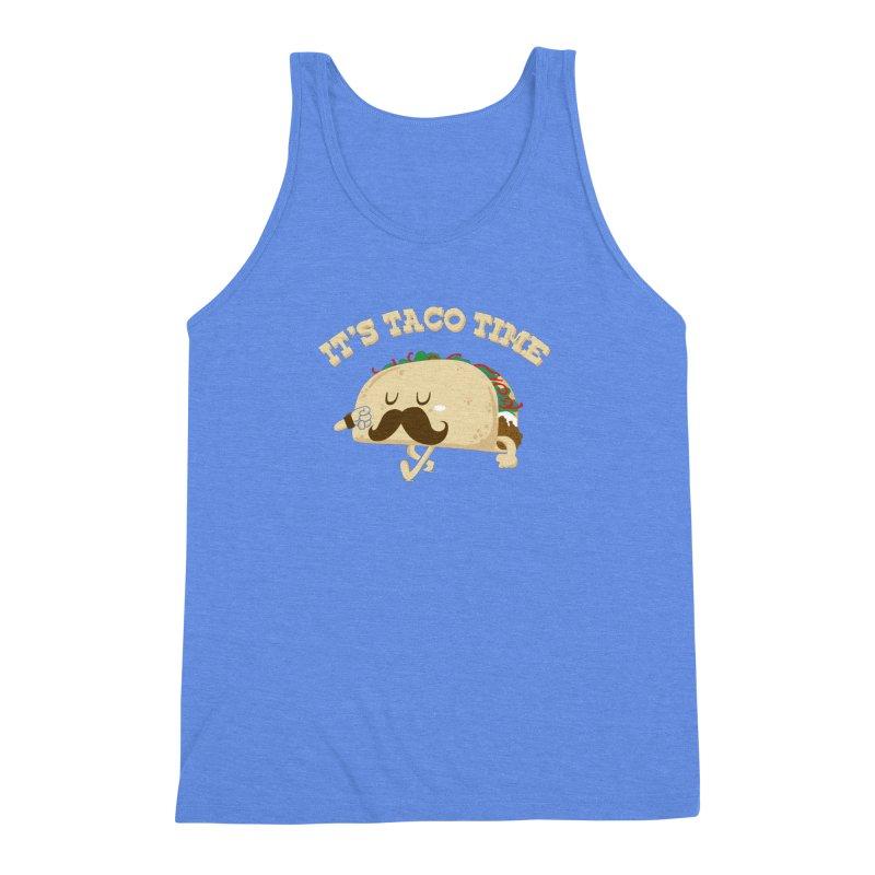 Taco Time Men's Triblend Tank by bykai's Artist Shop