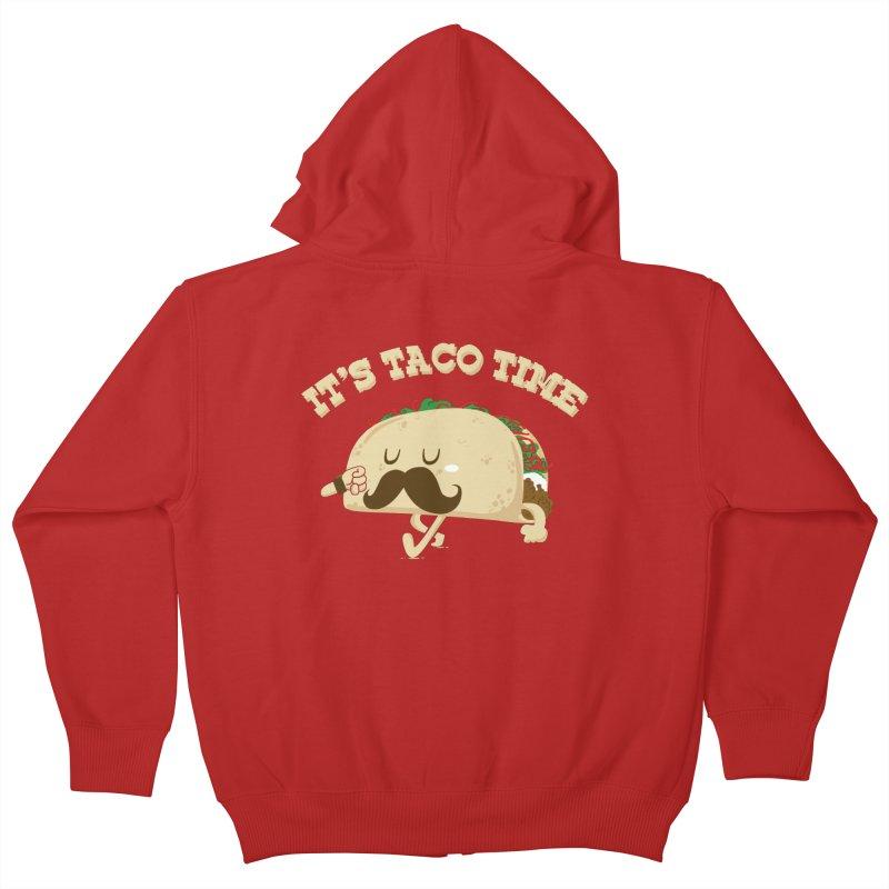 Taco Time Kids Zip-Up Hoody by bykai's Artist Shop