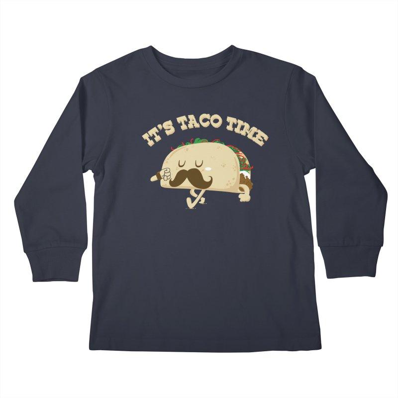 Taco Time Kids Longsleeve T-Shirt by bykai's Artist Shop