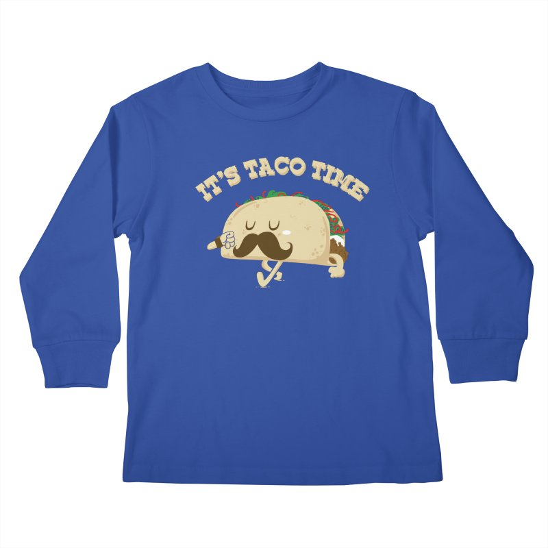 Taco Time Kids Longsleeve T-Shirt by bykai's Artist Shop