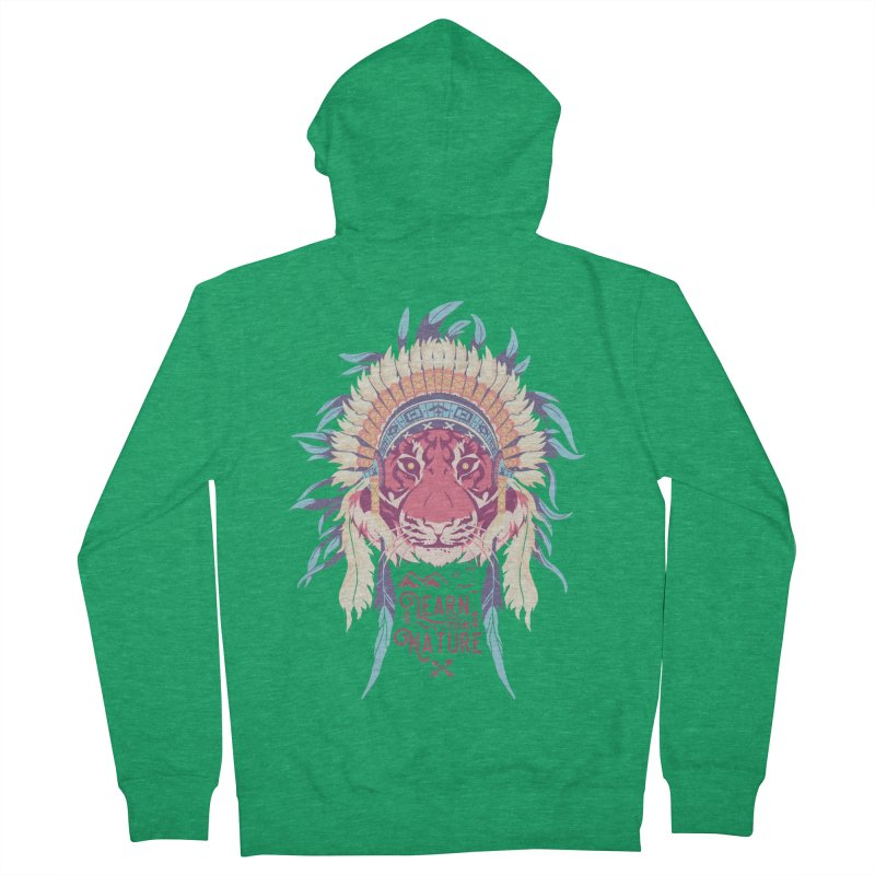Learn from Nature Women's Zip-Up Hoody by bykai's Artist Shop