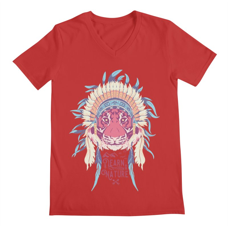 Learn from Nature Men's V-Neck by bykai's Artist Shop