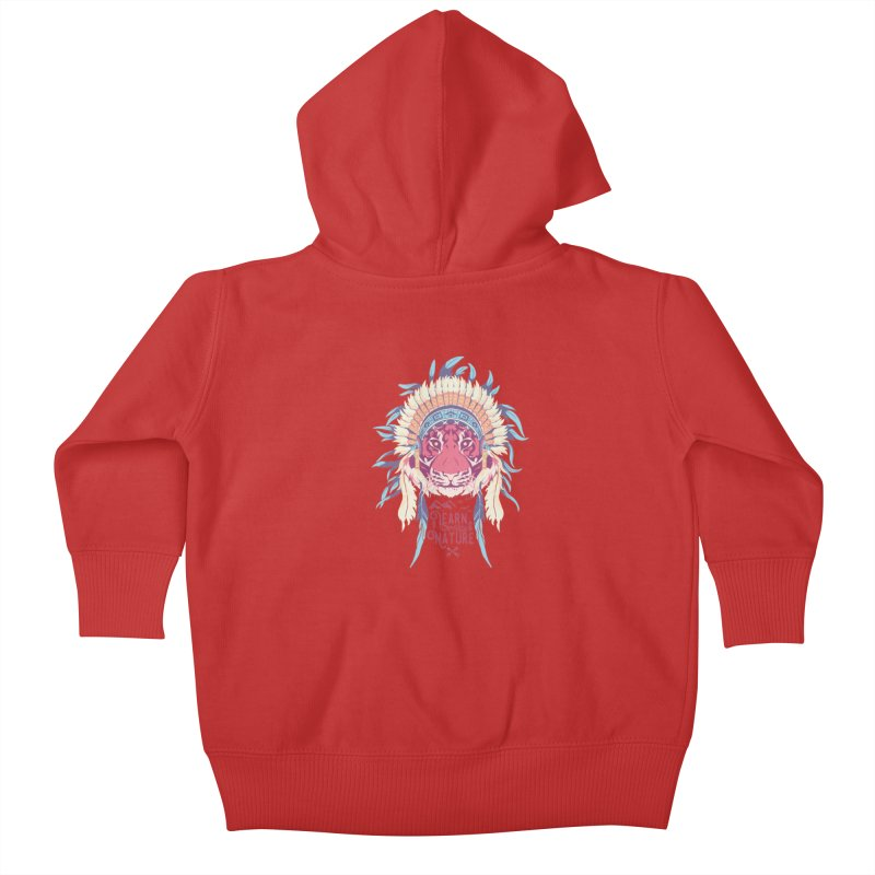 Learn from Nature Kids Baby Zip-Up Hoody by bykai's Artist Shop