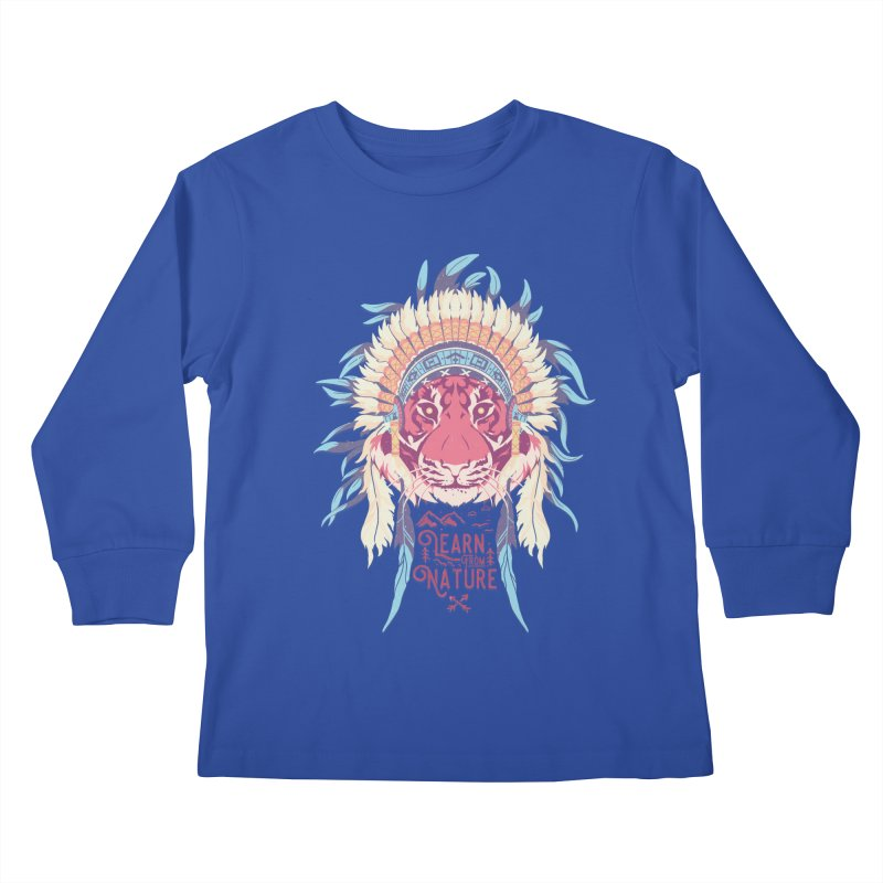 Learn from Nature Kids Longsleeve T-Shirt by bykai's Artist Shop