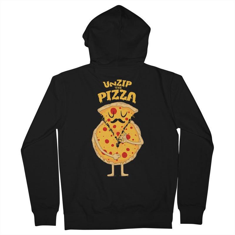 Unzip the Pizza Men's Zip-Up Hoody by bykai's Artist Shop