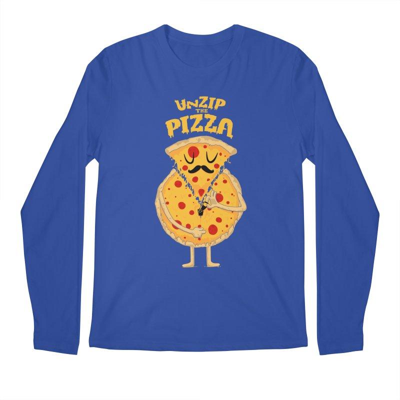 Unzip the Pizza Men's Longsleeve T-Shirt by bykai's Artist Shop