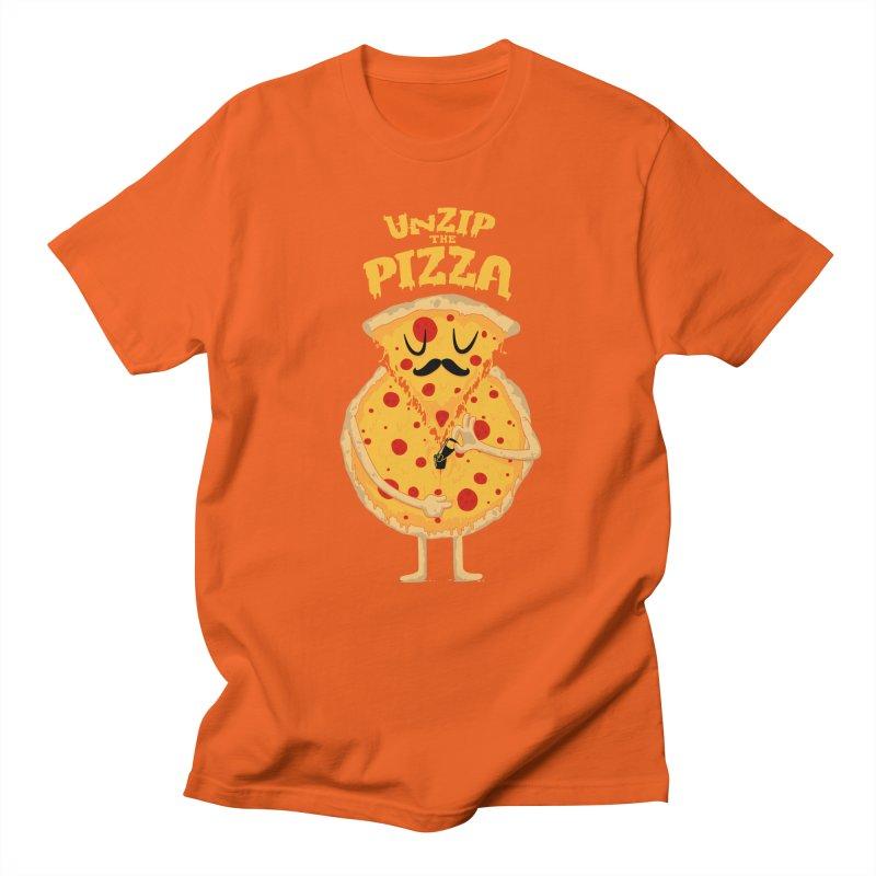 Unzip the Pizza Men's T-Shirt by bykai's Artist Shop