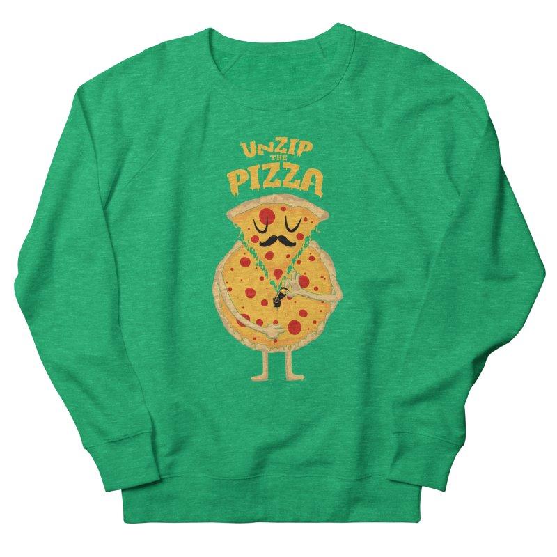 Unzip the Pizza Men's Sweatshirt by bykai's Artist Shop