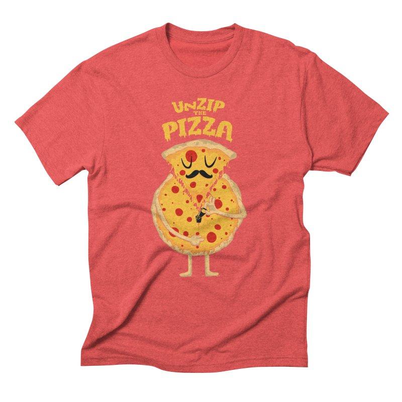 Unzip the Pizza Men's Triblend T-shirt by bykai's Artist Shop