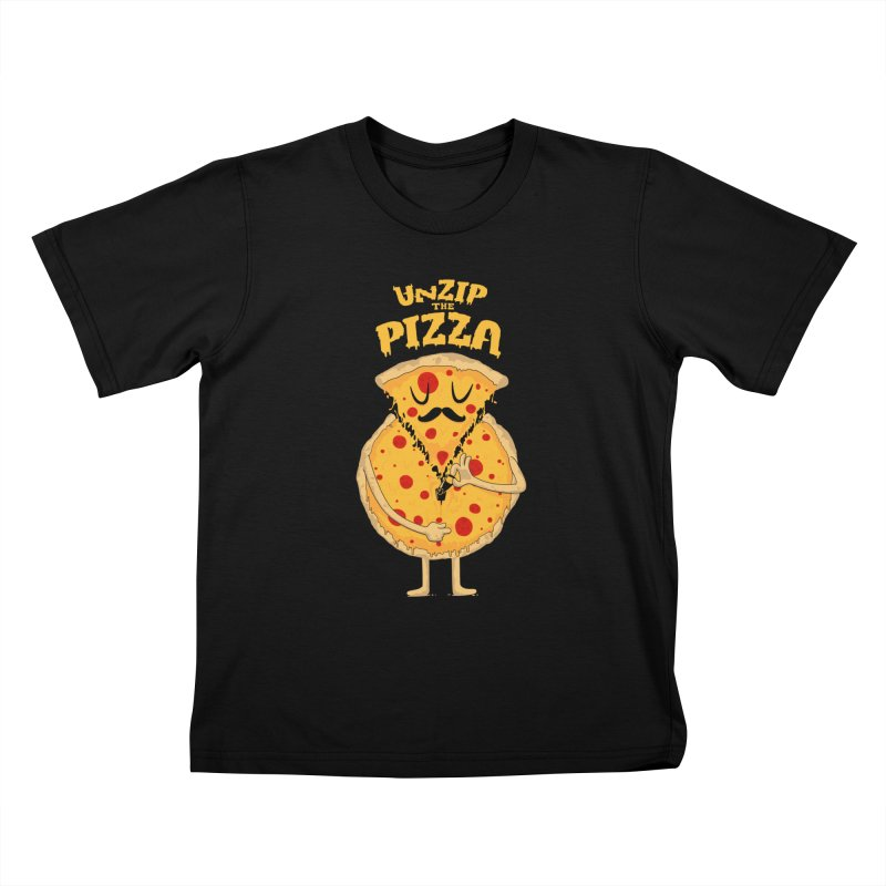 Unzip the Pizza Kids T-shirt by bykai's Artist Shop