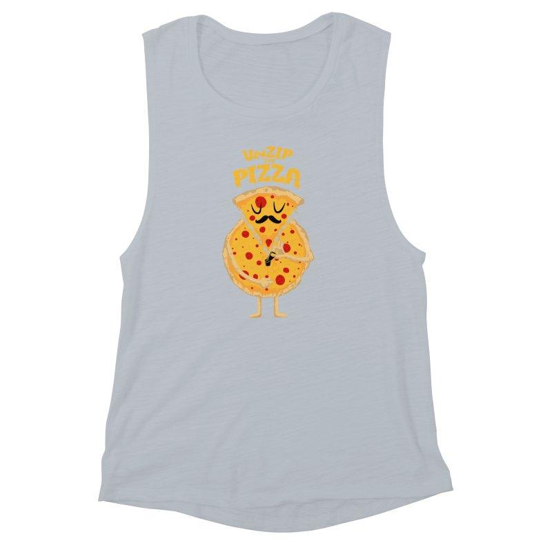 Unzip the Pizza Women's Muscle Tank by bykai's Artist Shop