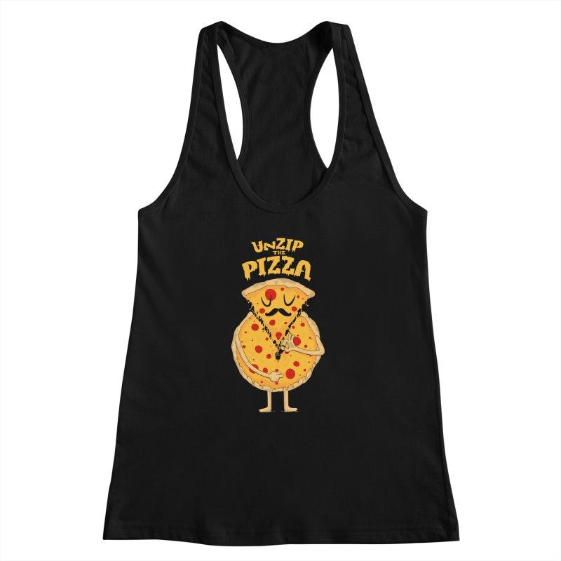 Unzip the Pizza Women's Racerback Tank by bykai's Artist Shop