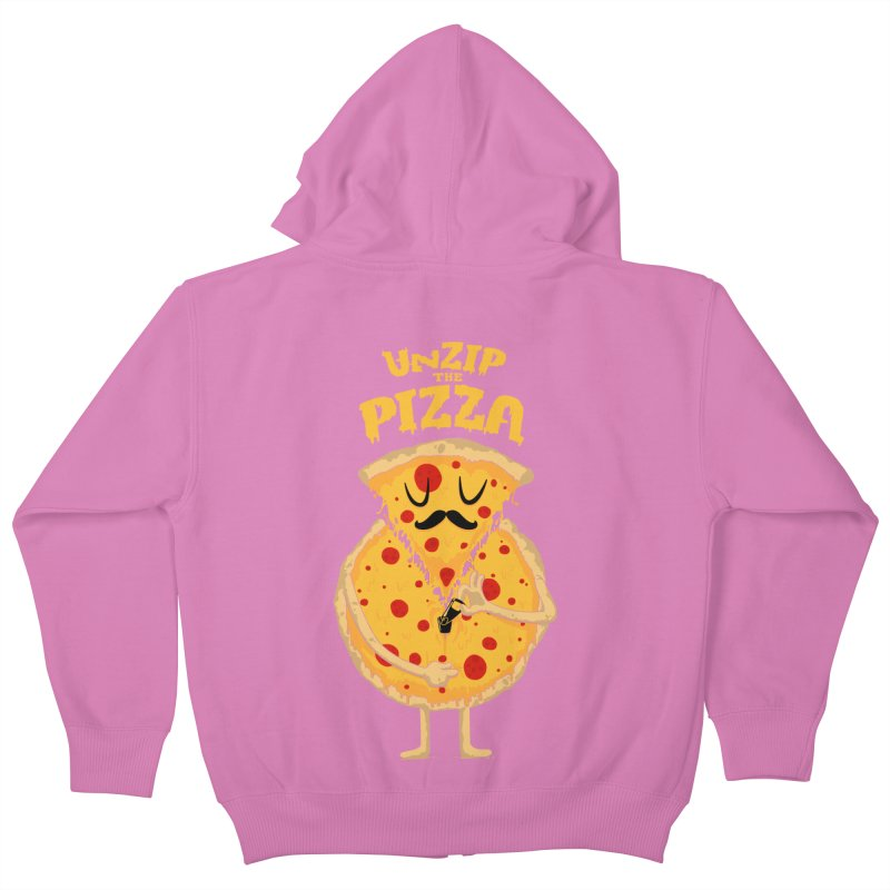 Unzip the Pizza Kids Zip-Up Hoody by bykai's Artist Shop