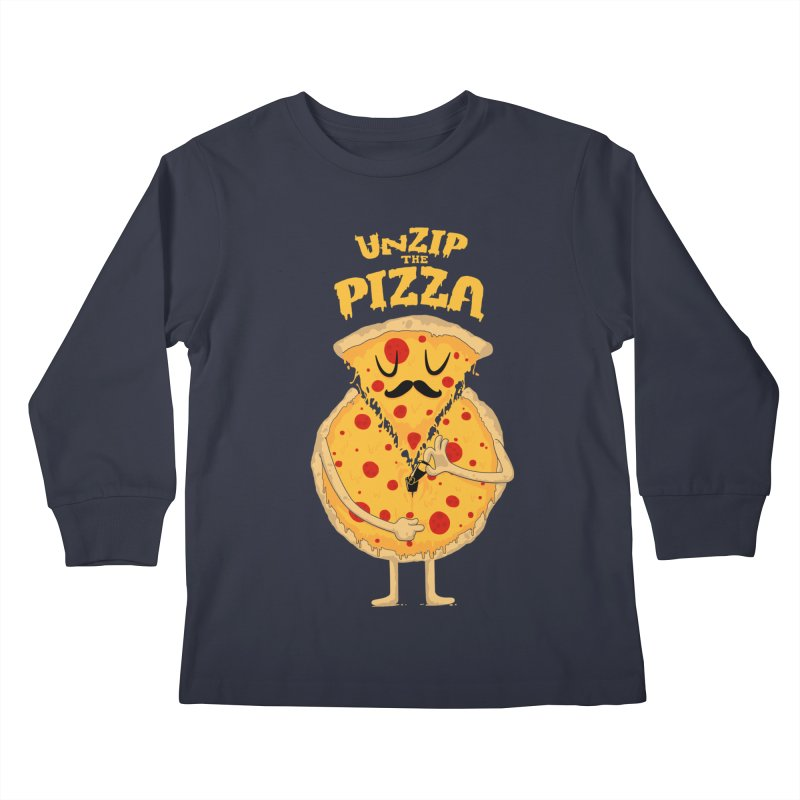 Unzip the Pizza Kids Longsleeve T-Shirt by bykai's Artist Shop