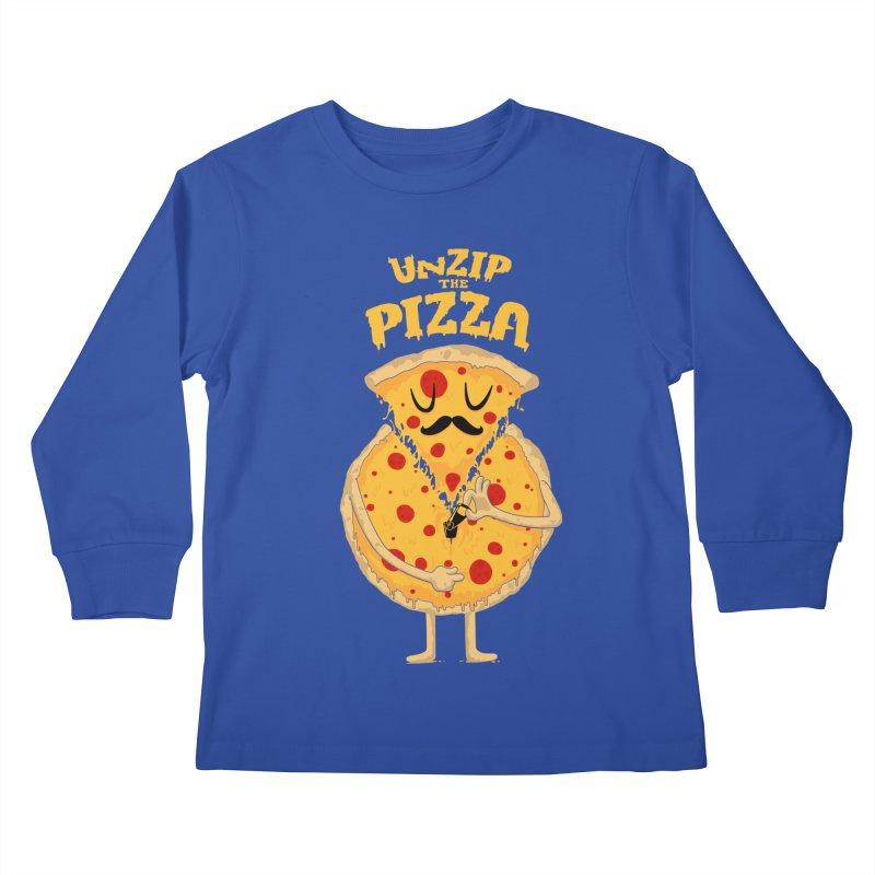 Unzip the Pizza Kids Longsleeve T-Shirt by bykai's Artist Shop