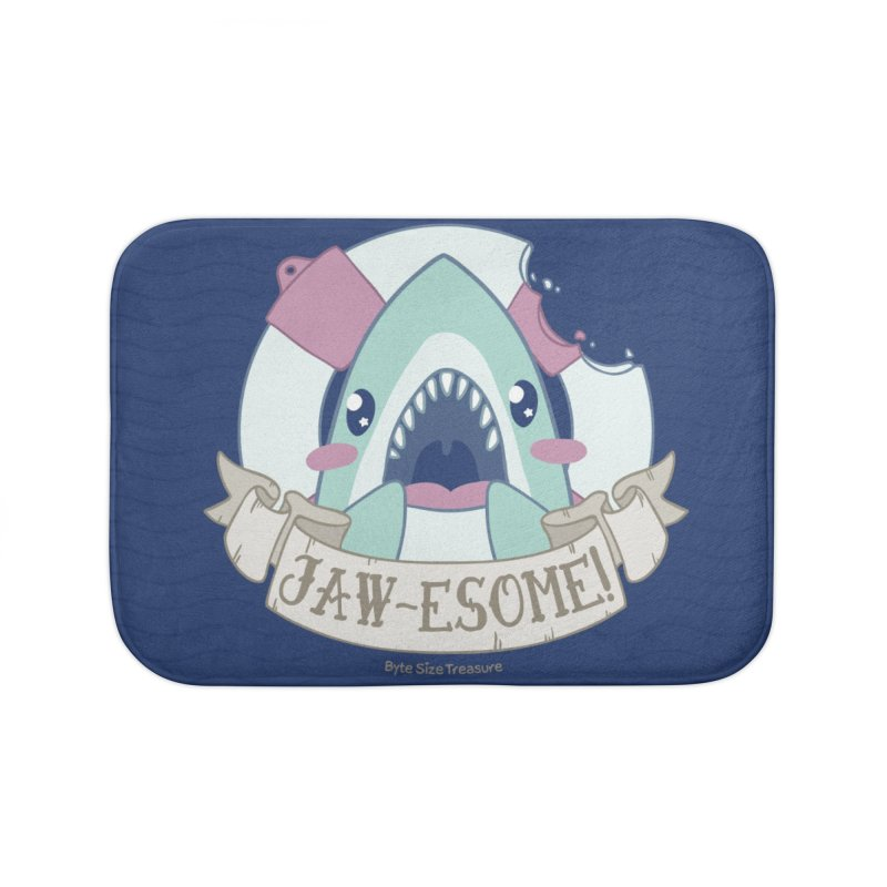 Jawesome! (Great White Shark) Home Bath Mat by Byte Size Treasure's Shop